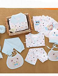 billige -Baby Gutt Fritid / Grunnleggende Daglig / Ut på byen Ensfarget / Trykt mønster Trykt mønster Langermet Normal Normal Bomull Tøysett Blå