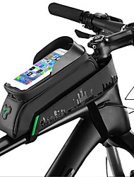 Недорогие -ROCKBROS Сотовый телефон сумка / Бардачок на раму 5.8/6.0 дюймовый Сенсорный экран, Водонепроницаемость, Компактность Велоспорт для Велосипедный спорт / iPhone X / iPhone XR Зелено / черный