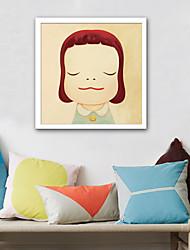 Недорогие -Холст в раме Набор в раме - Люди Мультипликация Пластик Иллюстрации Предметы искусства