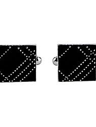 Недорогие -Запонки Алфавит Формальная Нарядная одежда Брошь Бижутерия Черный Назначение Обручение День рождения