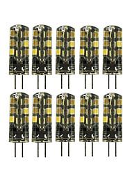 Недорогие -10 шт. 2 W Двухштырьковые LED лампы 180 lm G4 T 24 Светодиодные бусины SMD 2835 Милый Тёплый белый Холодный белый 12 V