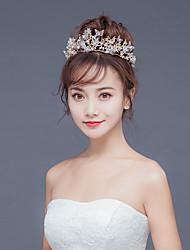 رخيصةأون -سبيكة تيجان مع لؤلؤ اصطناعي / تفاصيل كريستال 1 قطعة زفاف / مناسبة خاصة خوذة