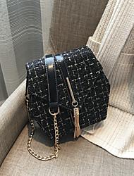 hesapli -Kadın's Çantalar Yapay Tüy Omuz çantası Püsküllü için Günlük / Randevu Beyaz / Siyah / Şarap