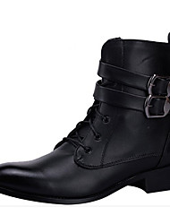 cheap -Men's Comfort Shoes Microfiber Fall & Winter Boots Mid-Calf Boots Black
