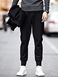 povoljno -muške hlače s veličinom hlača - čvrste boje u crnoj boji