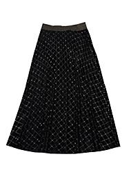 Χαμηλού Κόστους -Γυναικεία Γραμμή Α Βασικό Φούστες - Μονόχρωμο / Ριγέ