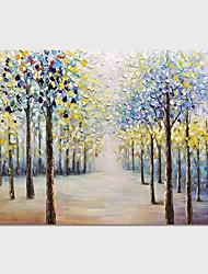 olcso -Hang festett olajfestmény Kézzel festett - Absztrakt Landscape Modern Anélkül, belső keret