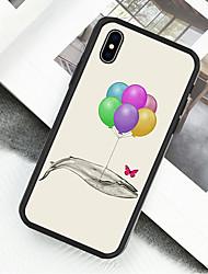 preiswerte -Hülle Für Apple iPhone X / iPhone XS Muster Ganzkörper-Gehäuse Ölgemälde / Balloon Hart Acryl / Kunststoff für iPhone XS / iPhone XR / iPhone X