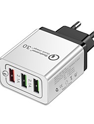 Недорогие -Портативное зарядное устройство Зарядное устройство USB USB Несколько разъемов 3 USB порта 3 A 100~240 V для Универсальный