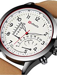 Недорогие -Муж. Спортивные часы Нарядные часы Наручные часы Кварцевый Кожа Черный / Коричневый Творчество Cool Аналого-цифровые Роскошь Мода Aristo - Коричневый Черно-белый Хаки Один год Срок службы батареи