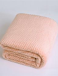abordables -Couvertures Multifonctionnelles, Couleur Pleine / Damas / Classique Fibres acryliques Réchauffeur Frange Doux couvertures