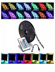 Недорогие -1m Гирлянды 30 светодиоды SMD5050 1 пульт дистанционного управления 24Keys RGB Декоративная / Самоклеющиеся / ТВ-фон 5 V 1 комплект