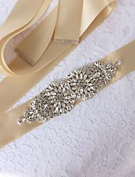 ราคาถูก -งานแต่งงาน / งานปาร์ตี้ / งานราตรี สายสะพาย กับ คริสตัล / เข็มกลัด / เข็มขัด สำหรับผู้หญิง ผ้าคาดเอว