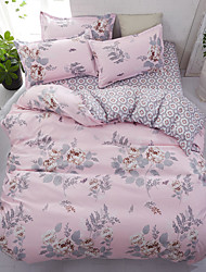 abordables -Sets Funda Nórdica Floral / Lujo / Contemporáneo Poliéster Impreso 4 PiezasBedding Sets