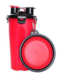 Недорогие -Животные Вода и корм / Миски и бутылки с водой / Хранение продуктов питания 0.35 L пластик На открытом воздухе Путешествия Однотонный Красный Чаши и откорма