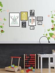 voordelige -Decoratieve Muurstickers - Vliegtuig Muurstickers Abstract Slaapkamer / Studeerkamer / Kantoor