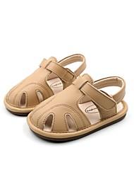 halpa -Poikien Kengät Nahka Kesä Comfort / Ensikengät Sandaalit varten Vauvat Musta / Beesi / Manteli