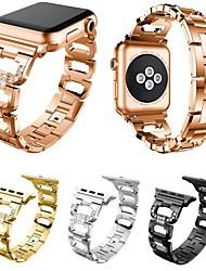 Недорогие -Ремешок для часов для Серия Apple Watch 5/4/3/2/1 Apple Дизайн украшения Нержавеющая сталь Повязка на запястье