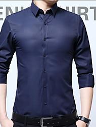 cheap -men's shirt - solid colored shirt collar
