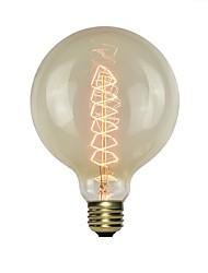 Недорогие -1шт 60 W E26 / E27 G125 Желтый Вид на город Лампа накаливания Vintage Эдисон лампочка 220-240 V