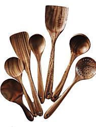 رخيصةأون -1SET ملعقة أواني الطعام خشب خلاق