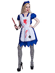 ae829f513ec1 Piguniform Zombie Klänningar Cosplay Kostymer / Dräkter Piguniform Vuxna  Dam Cosplay Halloween Halloween Karnival Maskerad Festival / högtid  Polyster Vit ...