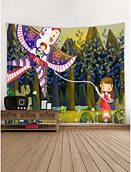 cheap -Cartoon Wall Decor 100% Polyester Contemporary Wall Art, Wall Tapestries Decoration