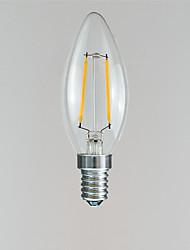 abordables -1pc 2 W 100-160 lm E14 Ampoules à Filament LED 2 Perles LED