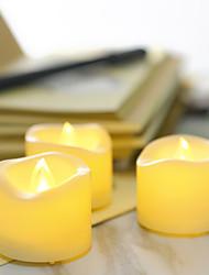 Недорогие -24шт светодиодные свечи свеча желтая кнопка с питанием от батареи легко переносить атмосферу безопасности ночные лампы на хэллоуин рождество благодарения
