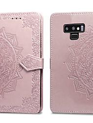 ieftine -Maska Pentru Samsung Galaxy Note 9 Titluar Card / Întoarce Carcasă Telefon Mată Greu PU piele pentru Note 9