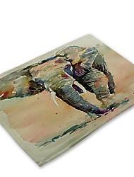 お買い得  -コンテンポラリー 不織の 方形 プレイスマット 3Dカトゥーン エコ テーブルデコレーション 1 pcs