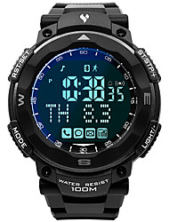 Недорогие -Муж. Армейские часы Японский Японский кварц Pезина Черный 100 m Защита от влаги Smart Bluetooth Цифровой Мода Цветной - Серый Один год Срок службы батареи
