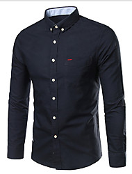 cheap -Men's Cotton Shirt - Solid Colored