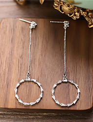 olcso -Női Átlátszó Mértani Tartsd fülbevaló Hamis gyémánt Fülbevaló Stílusos Függő Ékszerek Ezüst Kompatibilitás Esküvő Napi Szabadság 1 pár
