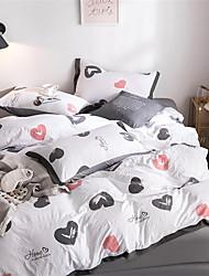 رخيصةأون -مجموعات حاف الغطاء عصري بوليستر مطبوع 4 قطعاتBedding Sets