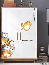 Недорогие -Декоративные наклейки на стены - 3D наклейки Животные / 3D Кабинет / Офис / Детская