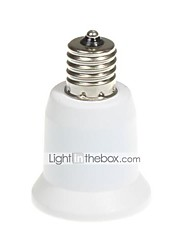 preiswerte -1pc E17 bis E27 E17 Glühbirne Zubehör ABS + PC Glühbirnenfassung