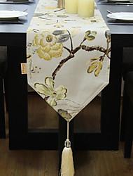 Недорогие -Современный Нетканые Квадратный Настольные дорожки Цветочный принт Настольные украшения