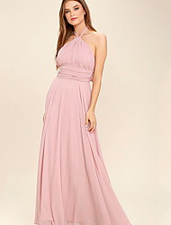 cheap -Women's Basic Swing Dress - Solid Colored Ruched Pink M L XL