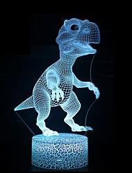 abordables -Illusion 3d led lampe dinosaure 7 couleur led ampoule décoration nuit de la lumière tactile nuit endormie lampe de table