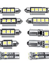Недорогие -11pcs Автомобиль Лампы 0.5-1 W 1 Внутреннее освещение / Украшения огней Назначение Volkswagen Jetta / GTI / Гольф 6 Все года