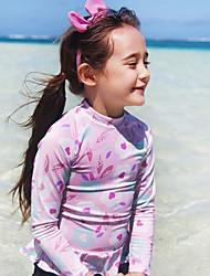cheap -JIAAO Girls' One Piece Swimsuit Thermal / Warm Ultra Light (UL) Wearable Chinlon Long Sleeve Swimwear Beach Wear Bodysuit Patchwork 2-Piece Swimming / High Elasticity