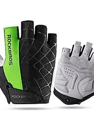 Недорогие -ROCKBROS Спортивные перчатки Перчатки для велосипедистов Дышащий Защита от солнечных лучей Без пальцев Сетка Велосипедный спорт / Велоспорт Универсальные