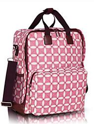 저렴한 -옥스퍼드 섬유 컬러 블럭 기저귀 가방 지퍼 컬러 블럭 블랙 / 옐로우 / 핑크