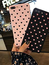 Недорогие -Кейс для Назначение Apple iPhone 8 Pluss / iPhone 7 Plus Ультратонкий / Матовое / С узором Кейс на заднюю панель С сердцем Твердый ПК