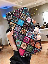Недорогие -Кейс для Назначение Apple iPhone XS / iPhone XR / iPhone XS Max С узором Кейс на заднюю панель Леопардовый принт / Цветы Мягкий силикагель