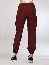 cheap -Women's Harem Running Pants Green Blue Burgundy Sports Fashion Pants / Trousers Bottoms Running Fitness Gym Workout Activewear Breathable Inelastic