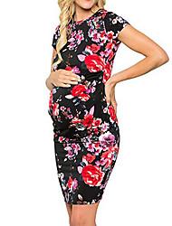 tanie -Damskie Wyrafinowany styl Elegancja Zmiana Szyfon Swing Sukienka - Geometric Shape, Pofałdowany Nadruk Maxi