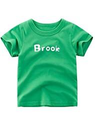 halpa -Lapset Tyttöjen Aktiivinen Painettu Lyhythihainen Polyesteri T-paita Apila