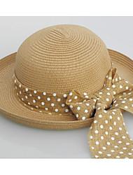 Недорогие -Жен. Винтаж Соломенная шляпа Солома,Однотонный Белый Бежевый Хаки